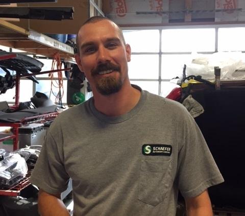 photo of mike in repair shop