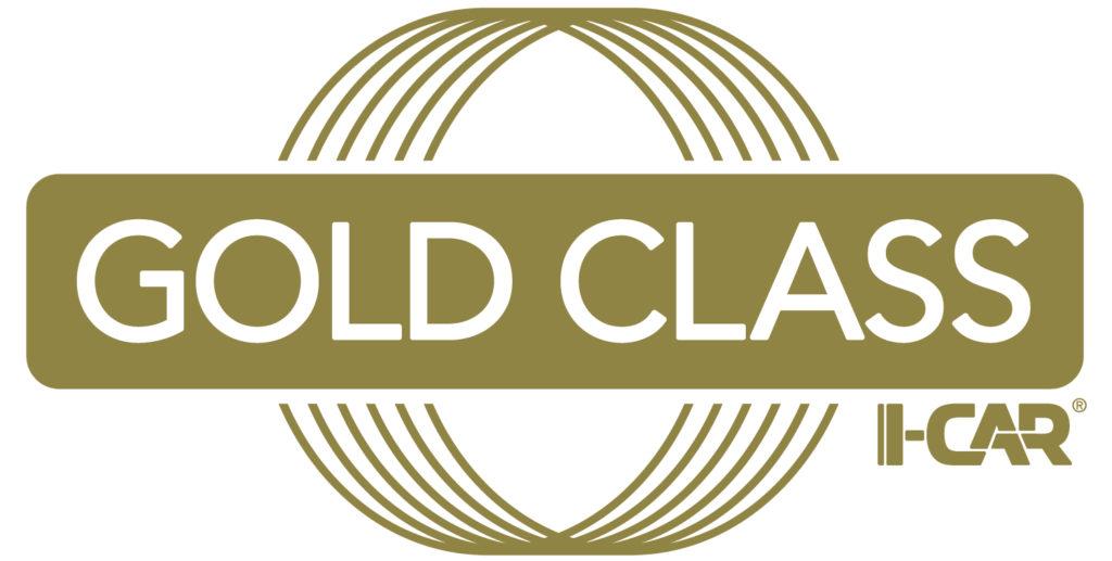 Logo for I-CAR Gold Class accreditation