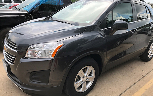 Chevrolet vehicle repaired