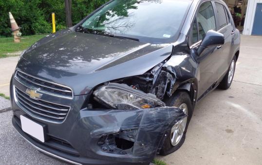 Toyota Corolla damaged