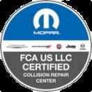 FCA Certified Collision Repair Center