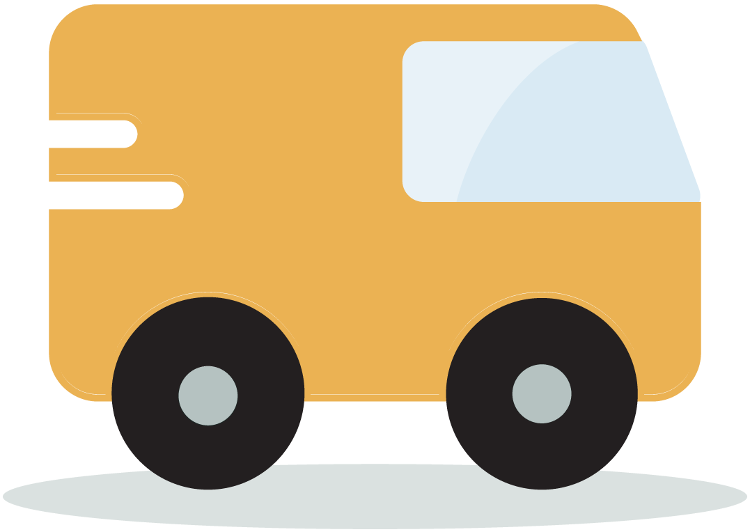 Yellow fleet vehicle