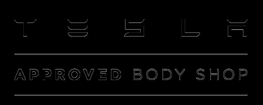 tesla approved collision center logo