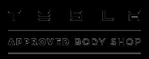 Logo for Tesla Approved Body Shop