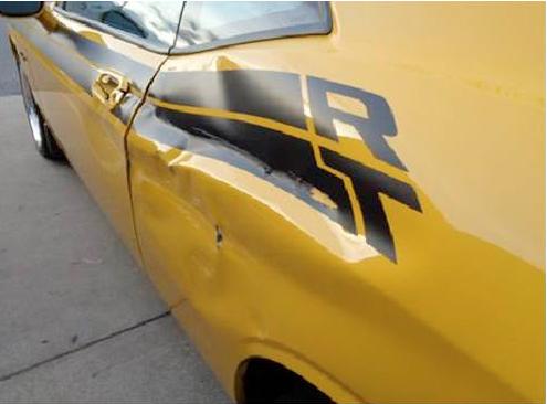 Damaged Dodge Challenger