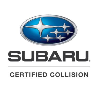 subaru certified collision repair logo