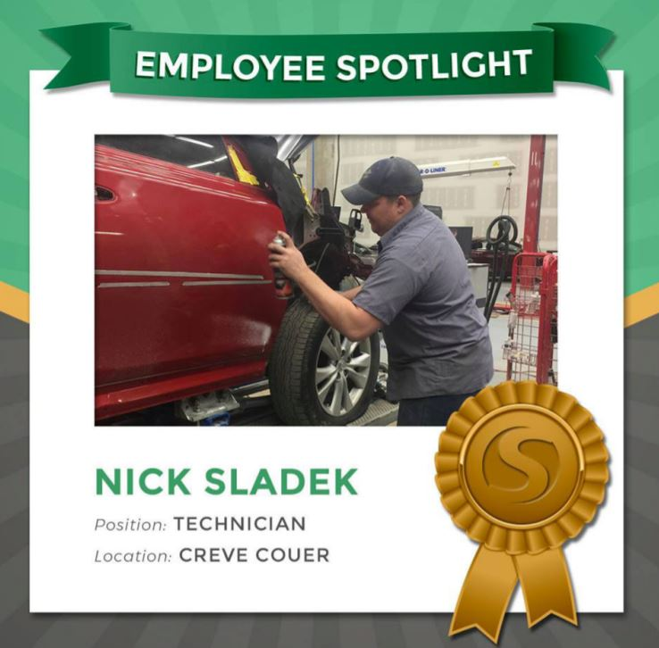 Nick Sladek working